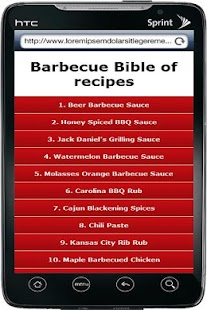 Barbecue Bible of recipes - screenshot thumbnail