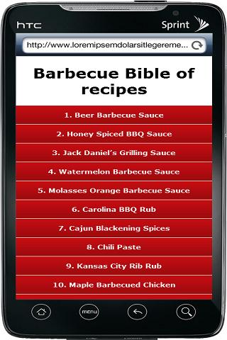 Barbecue Bible of recipes - screenshot