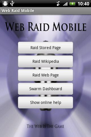 Web Raid Mobile- screenshot