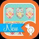 Plaid Owls Theme GO SMS icon