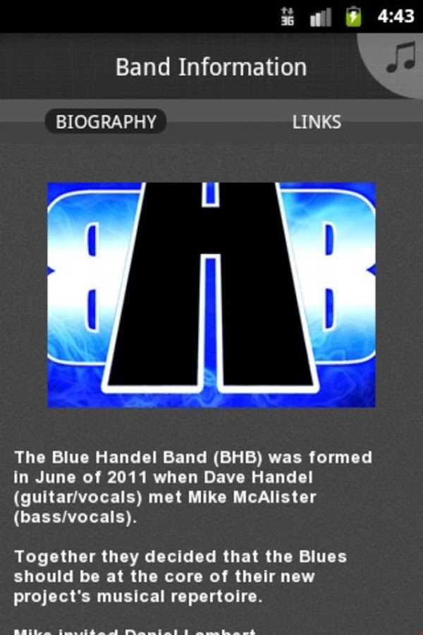 Blue Handel Band - screenshot