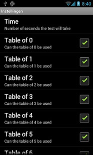 Multiplication Tables- screenshot thumbnail