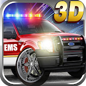 3D Emergency Rescue Racing Car