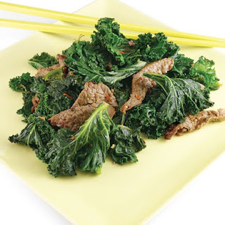 Ginger Beef and Kale.