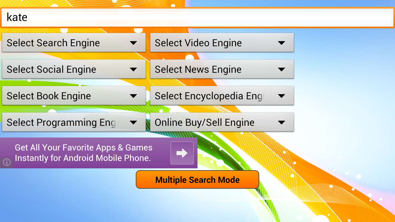 Super Search - web browsers- screenshot