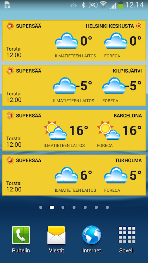 IS Supersää- screenshot