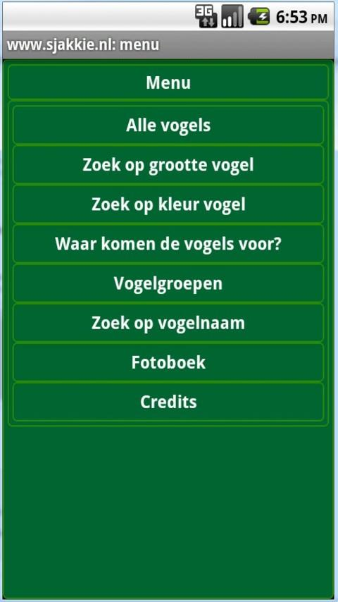 Vogels in Nederland- screenshot