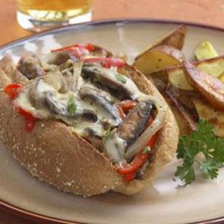 "Portobello ""Philly Cheese Steak"" Sandwich"