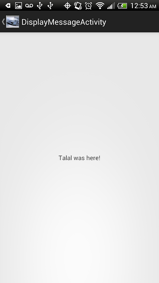 Talal's First App - screenshot