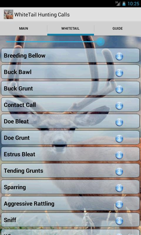 Whitetail Deer Hunting Calls - screenshot