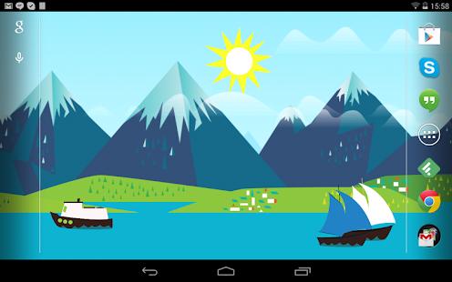 Mountains Now Free Wallpaper Screenshot
