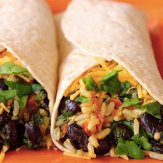 Spinach & Bean Burrito Wrap.