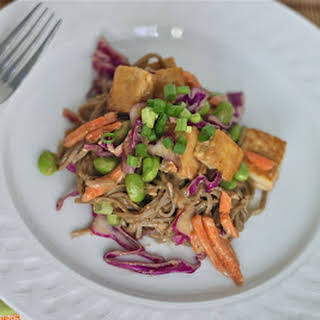 Soba Noodles and Tofu with Spicy Peanut Sauce.