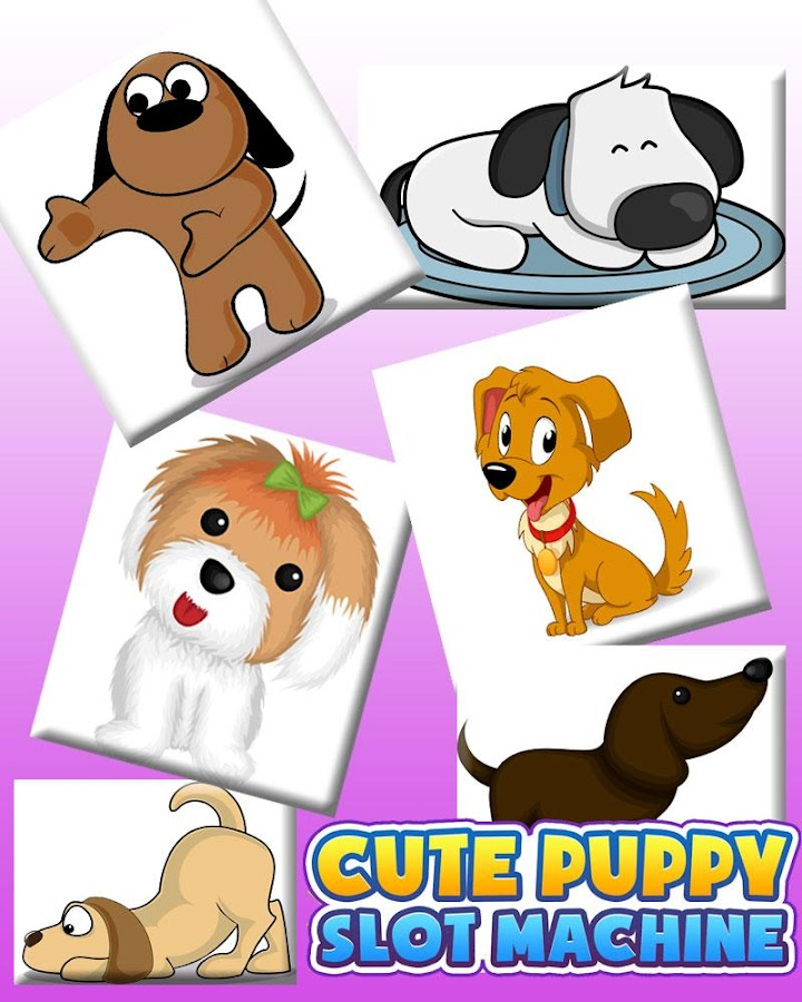 Cute Puppy Slot Machine HD Screen Capture 2