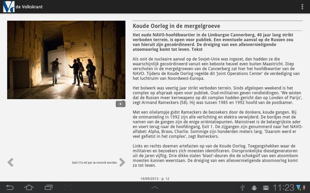 de Volkskrant - screenshot