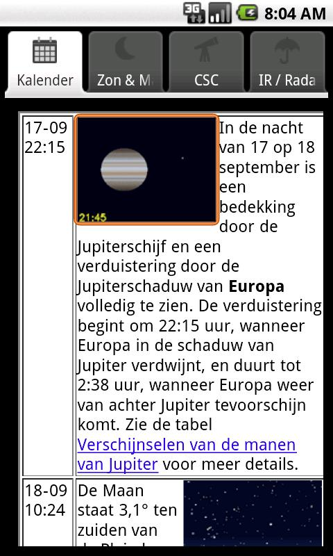 MijnHemel- screenshot