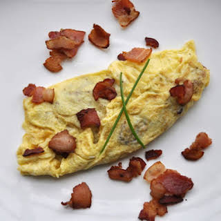 Bacon and Fried Potato Omelette.