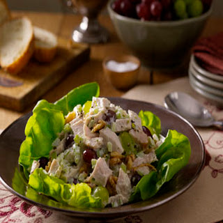 Turkey Salad with Grapes and Walnuts