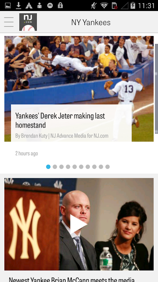 NJ.com: New York Yankees News - screenshot