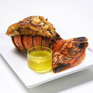 Broiled Lobster Tails with Garlic-Chili Butter.