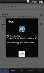DADAS WeatherApp- screenshot thumbnail