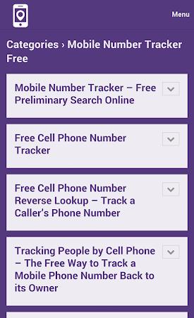 Mobile Number Tracker Tips 1.0 screenshot 9972