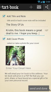 Create Books From TXTs + SMS - screenshot thumbnail