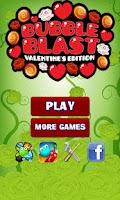 Screenshot of Bubble Blast Valentine