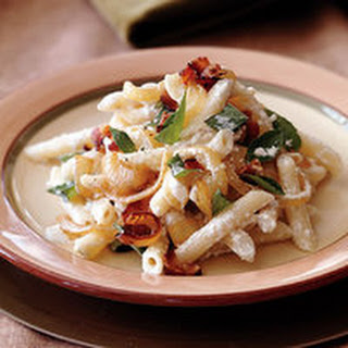 Penne with Ricotta and Bacon.