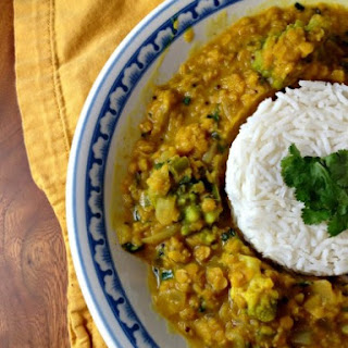 Fragrant Red Lentils  with Broccoli Romanesco