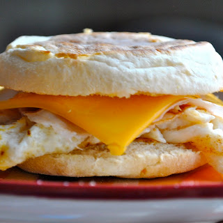 Egg and Cheese on an English Muffin