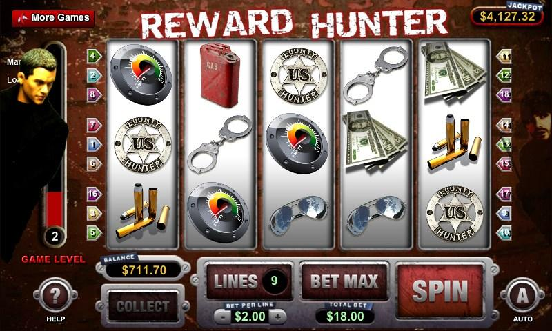 Reward Hunter Slot Machine - screenshot
