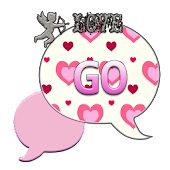 GO SMS THEME/ValentineLove