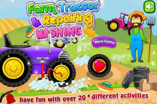 Farm Tractor Repair Washing