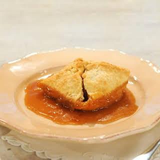 Apple Dumplings with Cider-Rum Sauce.
