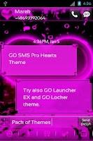 Screenshot of GO SMS Pro Hearts Theme