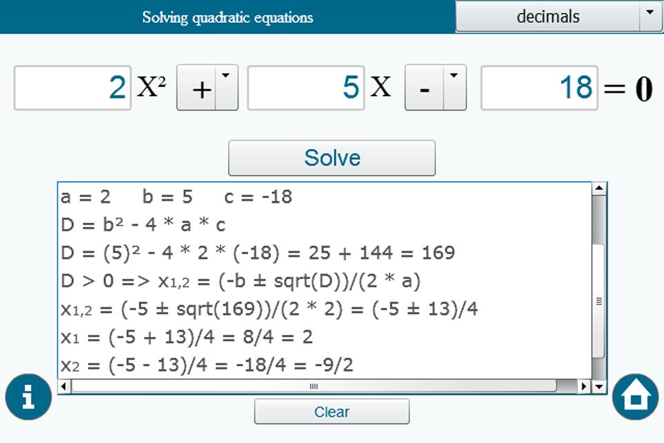влагалища туго решение уравнений онлайн калькулятор с решением с дробями горячих