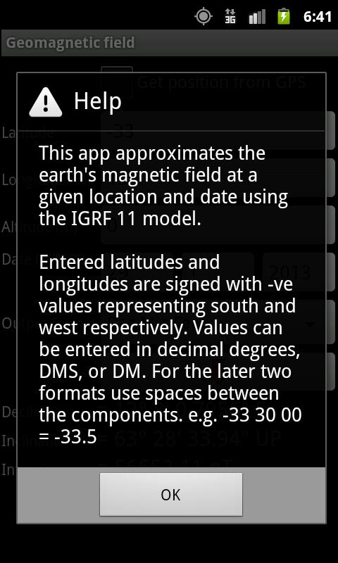 Geomagnetic Field - screenshot