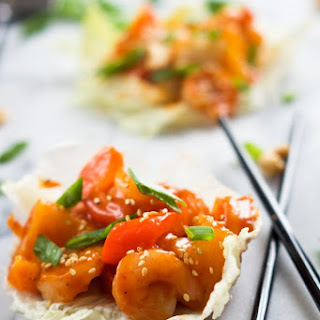 Sweet and Sour Shrimp Lettuce Wraps
