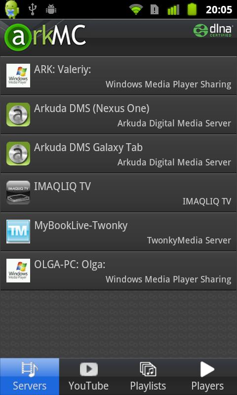 ArkMC UPnP Media Centre - screenshot