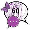GO SMS THEME/purplebutterfly