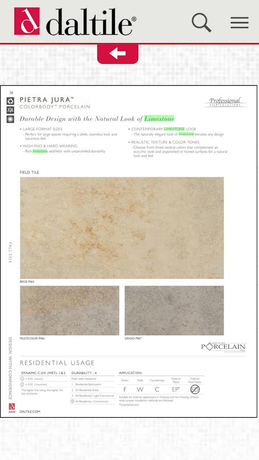 Daltile Product Catalogs- screenshot