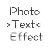 Photo text effect