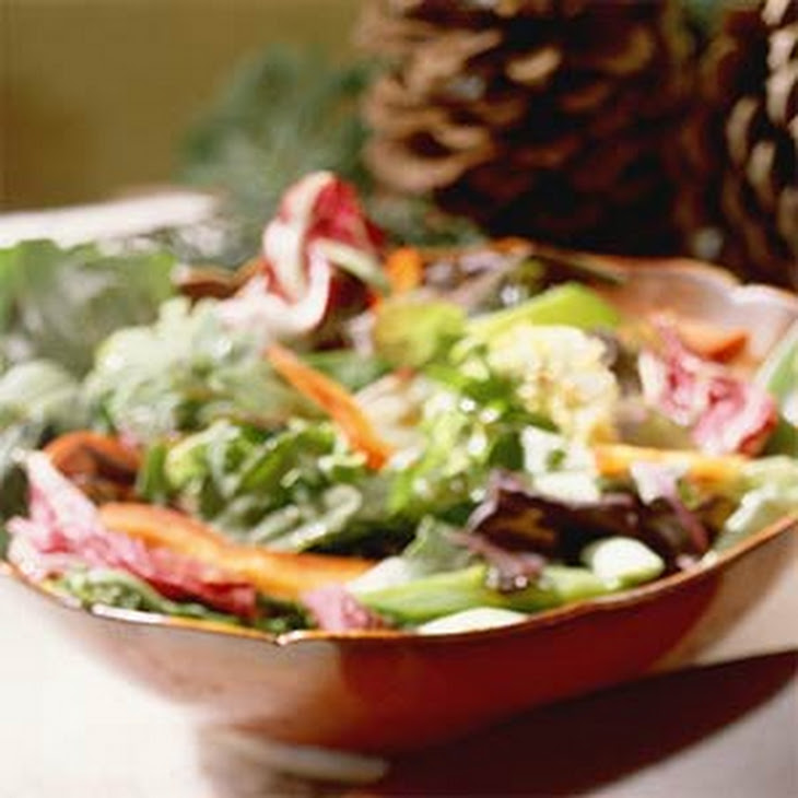 Field Salad with Warm Soy Dressing Recipe