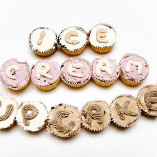 Orange Ice Cream Cupcakes
