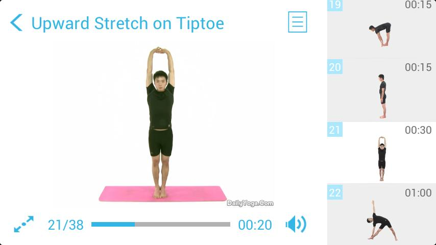 Standing Yoga Routine- screenshot