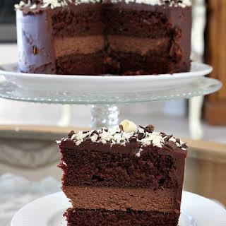 Chocolate Cheesecake Cake.