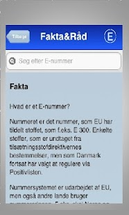 E nummer & Fødevare Guide- screenshot thumbnail