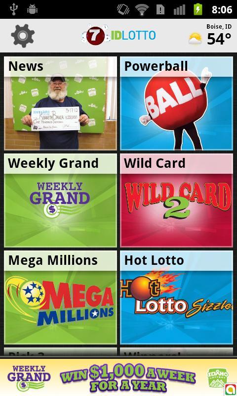 Idaho lottery numbers fromKTVB - screenshot
