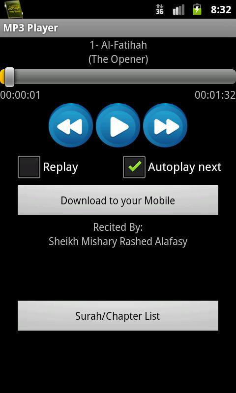 Quran MP3 With Kurdish - screenshot